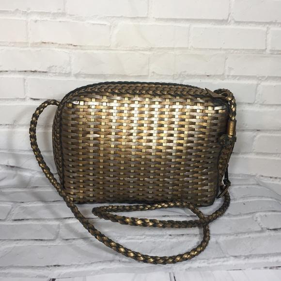 Classic Metalic leather crossbody bag